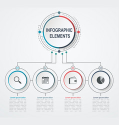 presentation business infographic template with 4 vector image