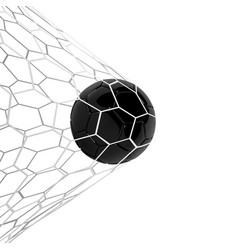 Realistic black soccer ball or football vector