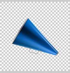 realistic megaphone blue on transparent background vector image
