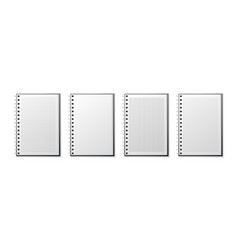realistic notebook lined and dots paper page vector image