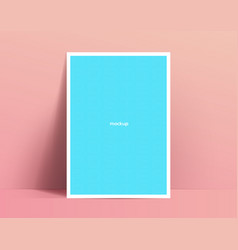 realistic poster mockup template design poster or vector image