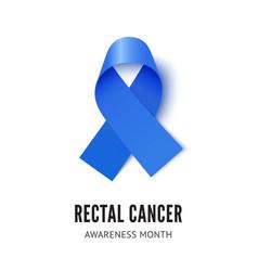 Rectal cancer awareness ribbon vector