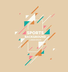 retro abstract geometric background sports poster vector image