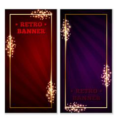 Retro banner frame vector