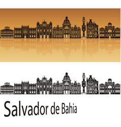 Salvador de bahia v2 skyline vector