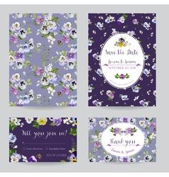 save date - wedding invitation card set vector image