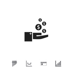 set of 5 editable logical icons includes symbols vector image
