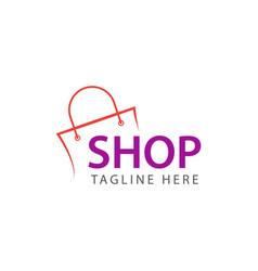 Shop logo template design vector