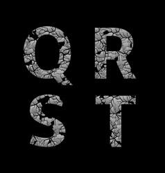 silver broken letters vector image