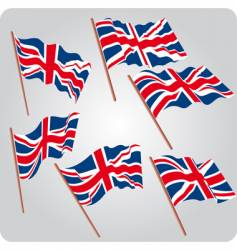 six UK flags vector image