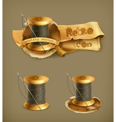 Spool of thread icon vector image