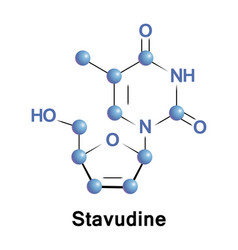 Stavudine medication hiv vector