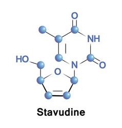 Stavudine medication hiv vector