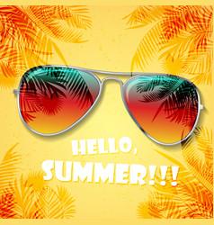 summer glasses background vector image