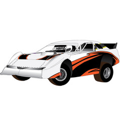 Super sedan speedway car vector