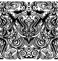 surreal black and white abstract fantastic vector image