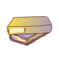 Two books are piled up vector