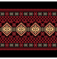 Ukrainian Ethnic Stitch Pattern vector