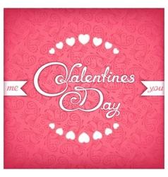 Valentines day title design vector image