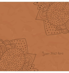 Vintage invitation corners on grunge background vector image