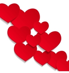 white hearts background vector image