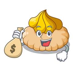 with money bag vanilla ice cream biscuit on vector image