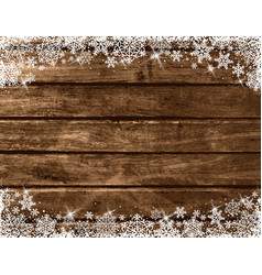 wooden brown christmas background vector image