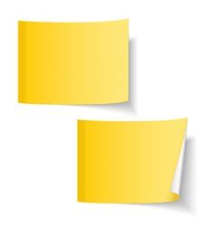 Yellow Paper Notes vector