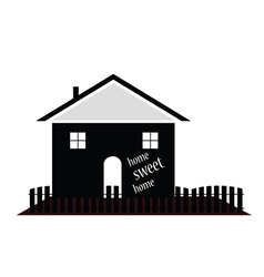 home sweet home silhouette vector image