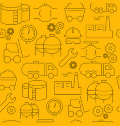 line style icons seamless pattern icons industrial vector image vector image