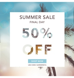 Summer Sale Banner Sale Background Big sale vector image vector image