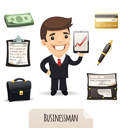 businessman set vector image vector image