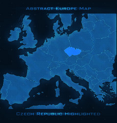 Europe abstract map czech republic vector