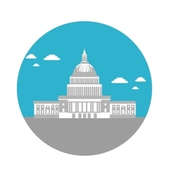 flat icon Capitol vector image