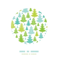 Holiday Christmas trees circle decor pattern vector image vector image