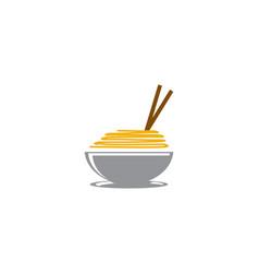 noodle logo vector image