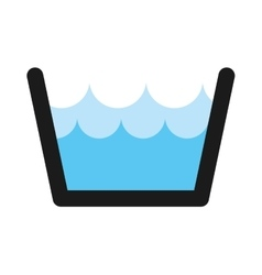 water tank isolated icon vector image