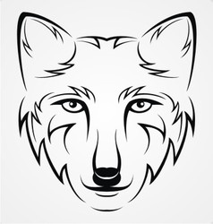 Wolf Head Tattoo vector image vector image