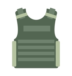 Bulletproof vest isolated vector image