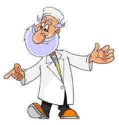 cartoon character man with a beard doctor vector image
