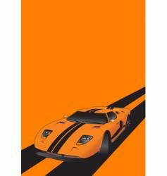 fantastic car on road orange vector image vector image