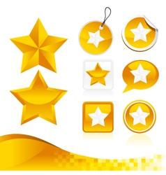Golden Star Design Kit vector image vector image