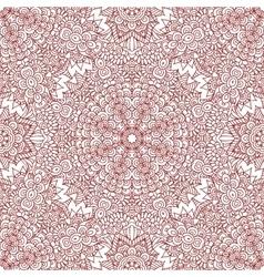 Mehndi henna design seamless pattern vector image vector image