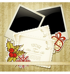 new years congratulatory background with vintage c vector image vector image
