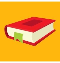 Nice book flat icon vector