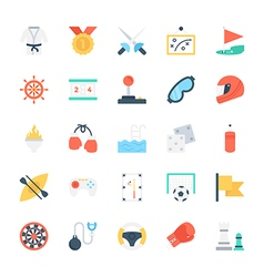 Sports Colored Icons 2 vector image
