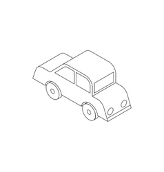 Car icon isometric 3d style vector image vector image