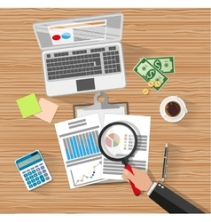 Financial audit Auditing tax process vector image