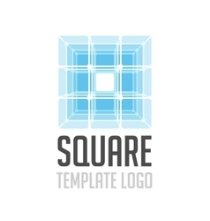 Template logo square vector image
