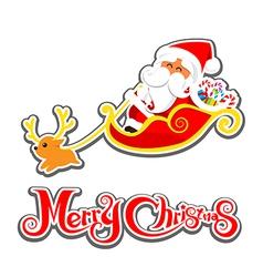 036 Merry Christmas Santa and christmas text 002 vector